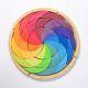 Puzzel regenboog kleurencirkel