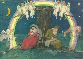 Maria en Jozef onder de regenboog, Ernst Kreidolf