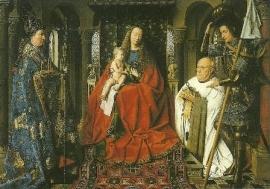 Madonna met kind en kanunnik, Jan van Eyck