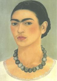 Zelfportret met halsketting, Frida Kahlo