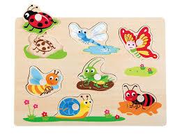 Houten puzzel insecten ( 8 st. vanaf 12 m)