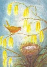 Vogel bij het nest, Erika Hoffmann