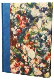 Olino Paperworks, Notebook met een omslag van gemarmerd loktapapier, Blauw