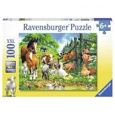 Puzzel Ravenburger Boerderijdieren ( 100 st. 6+)