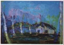 Avondlandschap, Piet Mondriaan