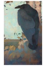 Kraai op berkenboom, Jan Mankes