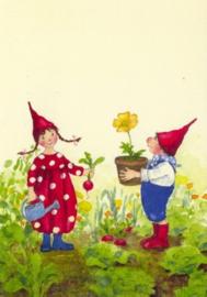 Pippa en Pelle in de lentetuin, Daniela Drescher, kaart