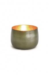 Waxinelichthouder Goldlicht Cup, messing/goud