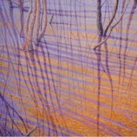 Verwevenheid-oranje-lila, Jos van Wunnik