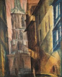 Rode toren II, Lyonel Feininger