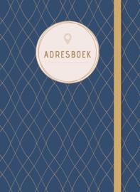 Adresboek klein, dark blue