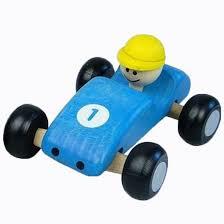 Formule 1 swing auto blauw ( houten)