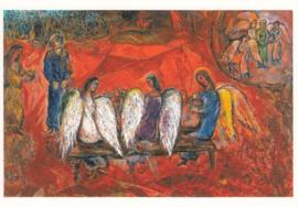 Abraham en de drie engelen, Marc Chagall