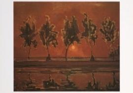 Bomen aan het Gein bij opkomende maan, Piet Mondriaan