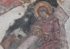 Geboorte van Christus, fresco Vicaresti klooster