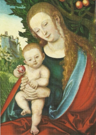 Maria onder een appelboom, Lucas Cranach de Oudere
