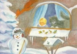 Sneeuwpop en kat, Dorothea Schmidt