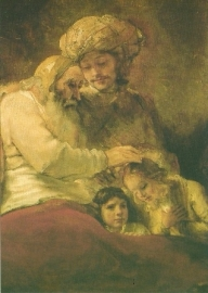 Jacob zegent zijn zonen, Rembrandt
