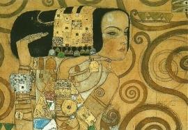 In afwachting (detail), Gustav Klimt