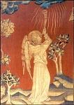 Apocalyptische engel met trombone, N. Bataille