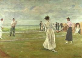 Tennisspelers bij zee, Max Liebermann
