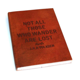 Only natural notebook leer, Not all those who wander are lost