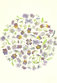 Hoornviooltjes mandala, Anna Lübsee
