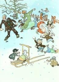 Sneeuwballen gooien, Björn Berg