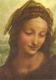 Heilige Anna (detail), Leonardo da Vinci