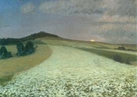 Bloeiend boekweitveld, F. Overbeck