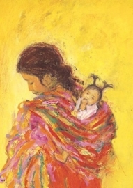 Maya indiaan met kind, Marjan van Zeyl