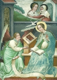Verkondiging en visitatie (detail), Thomas von Villach
