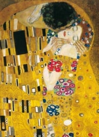 De kus (detail), Gustav Klimt