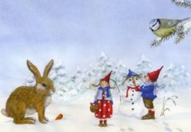 Pippa en Pelle in de sneeuw, Daniela Drescher, kaart