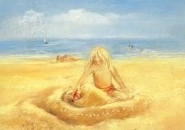 Op het strand, Marjan van Zeyl