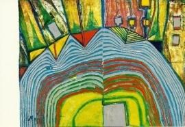Zonsondergang, Friedereich Hundertwasser