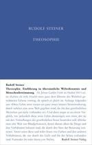 Theosophie Einführung in übersinnliche Welterkenntnis und Menschenbestimmung GA 9 / Rudolf Steiner
