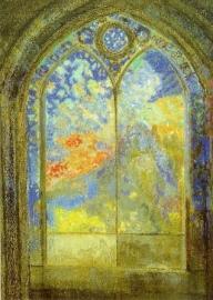 Het kerkvenster/De geheime tuin, Odilon Redon