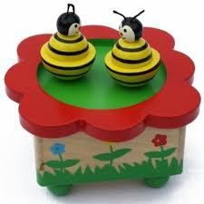 Muziekdoosje, dansende bijen, meldodie Wiegenlied