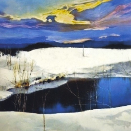 Spring-winter landscape 6, Azad Saber
