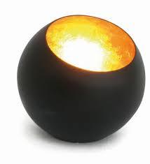 Waxinelichthouder Goldlicht Globe, brons/goud