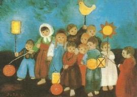 Kinderen met lampionnen, Heide Dahl