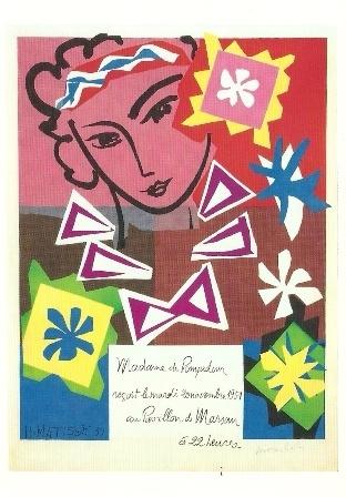 Affiche voor tentoonstelling Parijs 1951, Henri Matisse