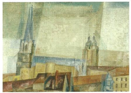 Torens boven de stad, Lyonel Feininger