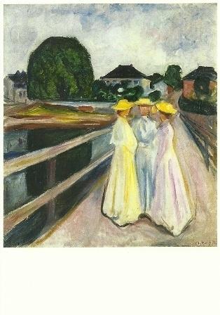 Vrouw en kinderen in Arendal, Edvard Munch