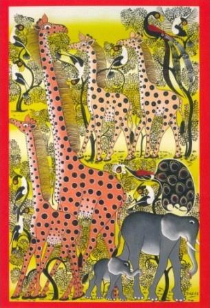 Twee gespikkelde giraffen, Boblee