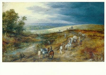 Landschap met roerdompjagers, Jan Brueghel de oudere