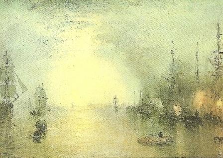 Stoker laadt kolen in maanlicht, J.M.W. Turner