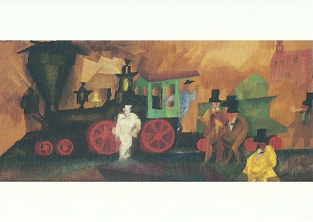 Oude locomotief, Lyonel Feininger