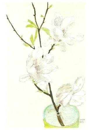 Magnolia twijg, Erich Heckel